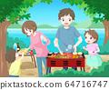 가족 바베큐 배경 수 64716747