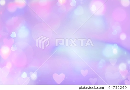 Colored abstract background heart bokeh - illustration design 64732240