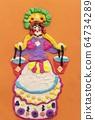 Children plasticine crafts of Dymkovo toy view 64734289