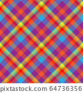 Tartan scotland seamless plaid pattern vector. 64736356