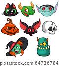 Halloween characters icon set 64736784