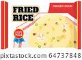 Frozen food fried rice English version 64737848