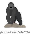 Isolated cute gorilla cartoon 64740796
