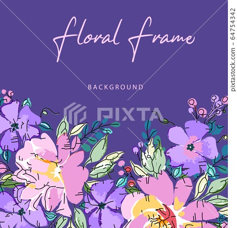 美麗優雅的矢量玫瑰花花卉 64754342