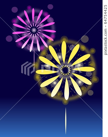 Fireworks colorful night 64754425