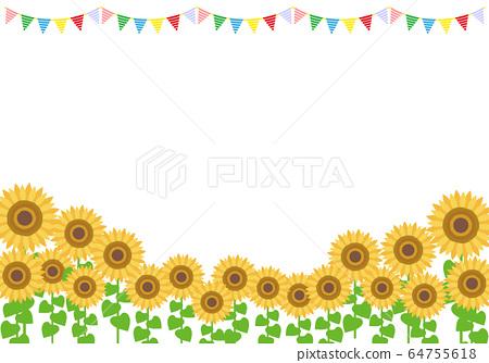 向日葵框架例證向日葵 64755618
