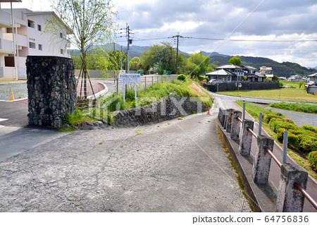 Former Asakura City Haki Elementary School closed on March 31, 2018 64756836