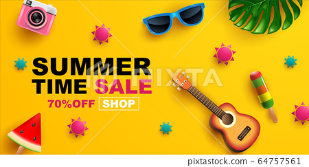 Summer Sale, Banner Layout Design, vector 64757561