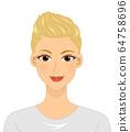 Girl Short Hair Illustration 64758696