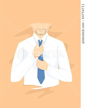 Man Wearing Necktie Illustration 64758711