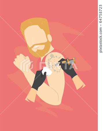 Man First Tattoo Arm Illustration 64758723