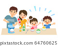 가족 단란 여름 빙수 만들기 64760625