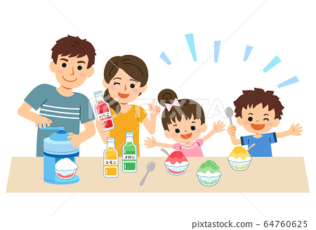 家庭丹然夏季製作刨冰 64760625