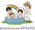 수영장에서 노는 가족 64762456