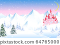 Fairy tale castle on a background of a winter 64765000