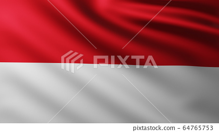 Large Flag of Monaco fullscreen background in the wind 64765753