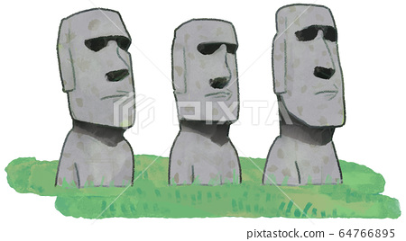 Moai Statue Illustration A 64766895
