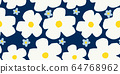 Hand-painted floral pattern background material seamless flower 64768962