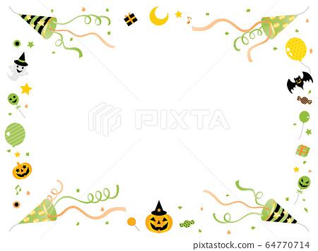 萬聖節傑克O燈籠和餅乾框架 64770714