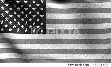 United States of America national flag blowing in 64771307