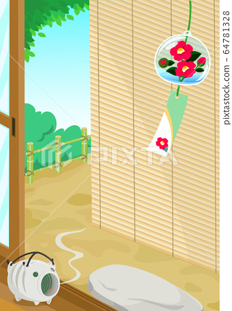夏季特色門廊Sudare風鈴 64781328