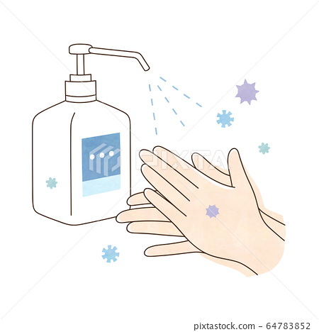 Alcohol disinfection virus and both hands 64783852