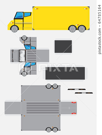 Container Cargo Truck Paper Model 64785164