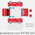Paper Model of Ambulance Van Car 64785165