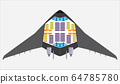 Seat Map of blended wing Passenger Airplane Vector 64785780