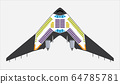 Seat Map of blended wing Passenger Airplane Vector 64785781