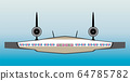 Cross section Seat Map of blended wing Passenger 64785782