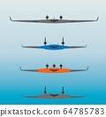 blended wing Passenger Airplane Vector 64785783