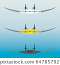 blendedwing Passenger Airplane Vector 64785792