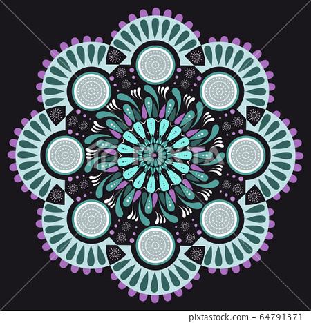 Colorful abstract vector mandala 64791371