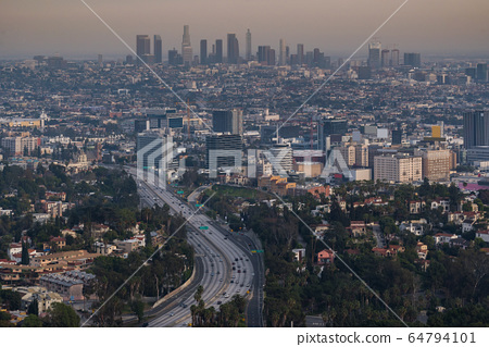 Los Angeles Cityscape Sunset 64794101