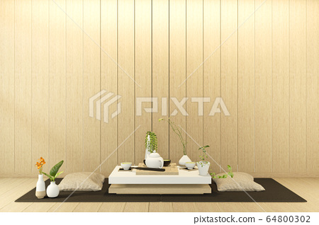 low table and pillow interior mock up Chinese 64800302