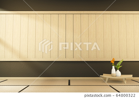 indoor empty room japan style. 3D rendering 64800322