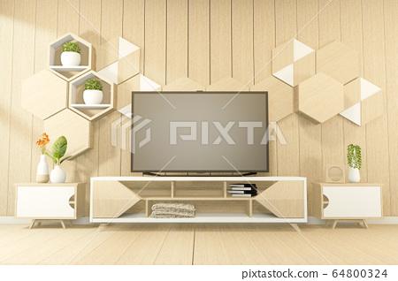 Tropical style - japanese room interior - minimal 64800324
