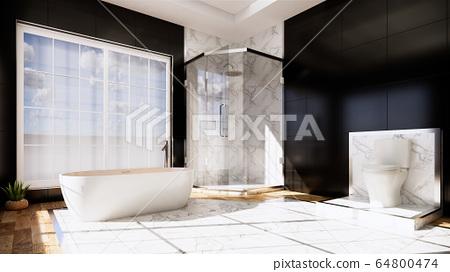 Zen design toilet tiles wall and floor - japanese 64800474