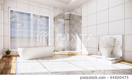 Zen design toilet tiles wall and floor - japanese 64800475