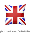 British flag on pillow 64801850