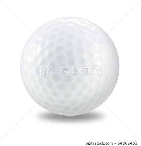 golf ball on a white background with clipping path 64802403