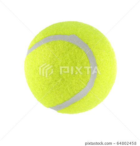 Tennis ball isolated on white background with 64802458
