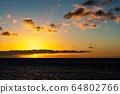마우이,일몰,하와이,저녁놀 64802766