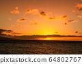 마우이,일몰,하와이,저녁놀 64802767