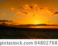마우이,일몰,하와이,저녁놀 64802768