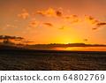마우이,일몰,하와이,저녁놀 64802769