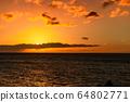마우이,일몰,하와이,저녁놀 64802771