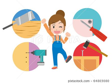 DIY工作DIY木匠女人 64803080
