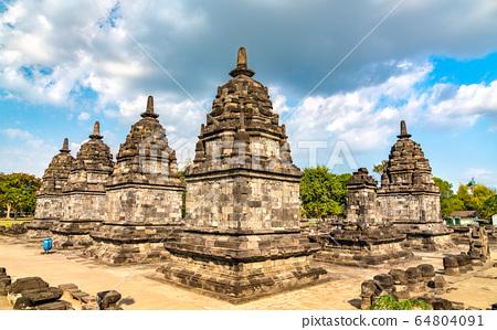 Candi Lumbung Temple at Prambanan in Indonesia 64804091